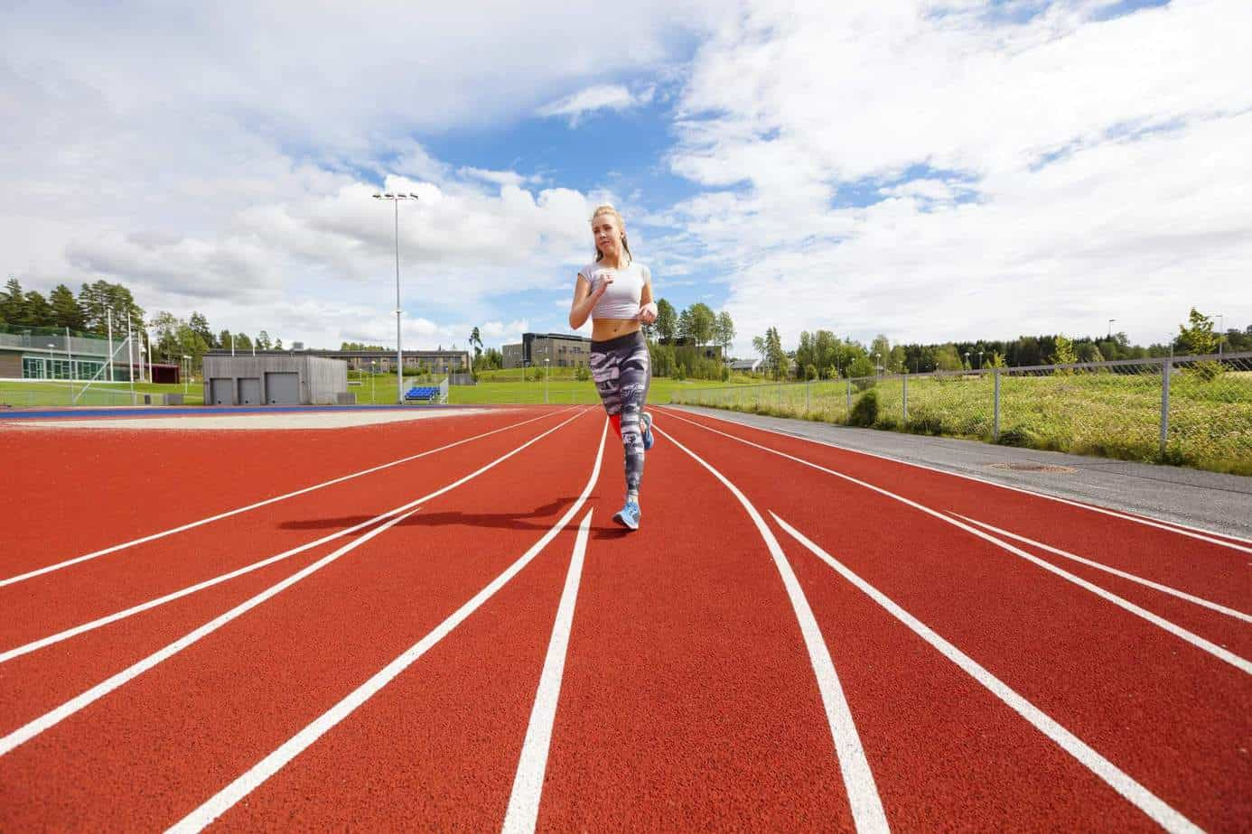 Crossfit running track workouts